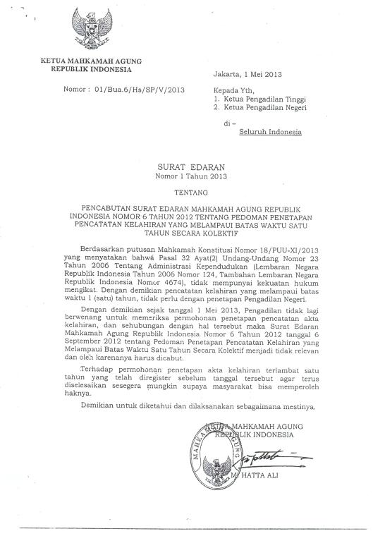 SuratEdaranMA-tgl.1Mei2013mengenaiTindakLanjutPutusanMK