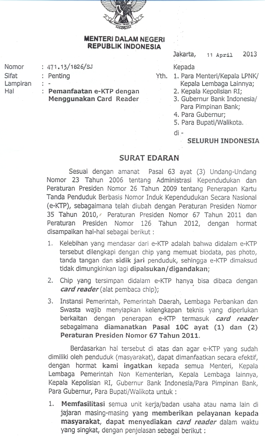 SuratMendagri-PemanfaatanCardReader-eKTP11April2013
