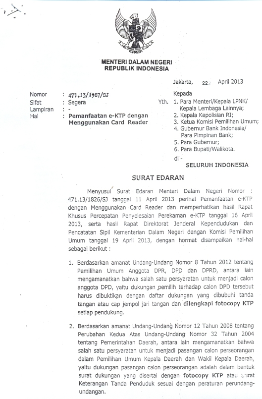 SuratMendagri-PemanfaatanCardReader-eKTP22April2013