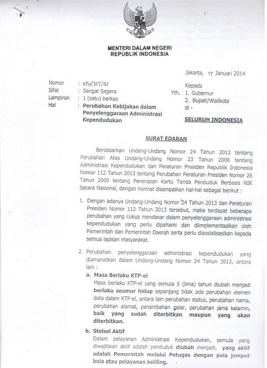 Surat1Mendagri_17012014_PerubahanKebijakanAdminduk
